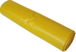 Vrecia na odpad žlté 120 l