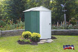 Plechový záhradný domček ARROW DRESDEN 54 zelený