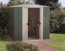 Plechový záhradný domček ARROW DRESDEN 65 zelený