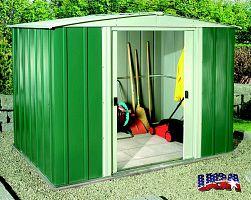 Plechový záhradný domček ARROW DRESDEN 86 zelený