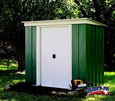 Záhradný domček ARROW PT 64 zelený