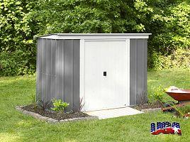Záhradný domček ARROW PT 84 sivý