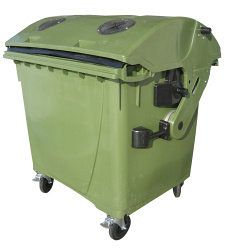 Kontajner na odpad s vhadzovadlami 1100 l FEREX zelený