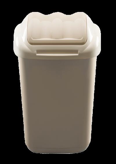 Plastový odpadkový kôš béžový 15 l