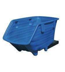 Plastový výklopný kontajner - lyžiny