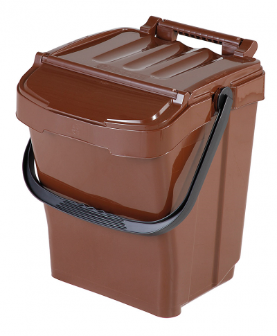 Odpadkový kôš URBA Plus 40 l - hnedý