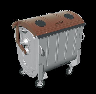 Kovový kontajner na separovaný zber BIO odpadu žiarovo zinkovaný 1100 l FEREX
