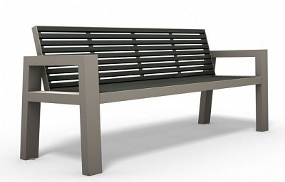 Oceľová lavička O1003
