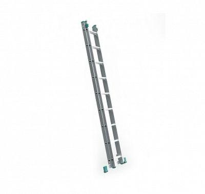 Dvojdielny hliníkový rebrík 2 x 9 stupňov