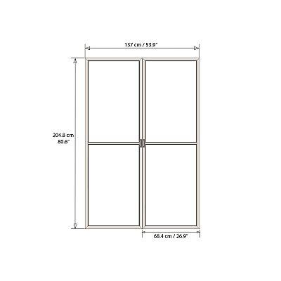 Palram dvere s moskytiérou pre Torino 3 x 4,25 šedé