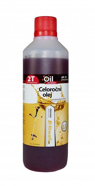 Celoročný olej Riwall pro 2-taktné motory (0.5l)