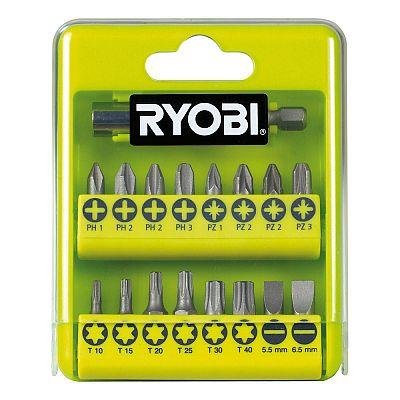 17ks sada skrutkovacích bitov Ryobi RAK 17 SD